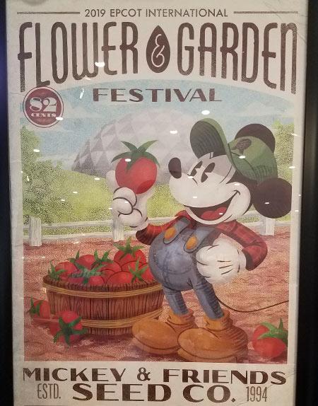 Flower & Garden Festival Mickey's Garden Shed Festival Poster | Mouse Memos Disney Blog