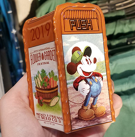 Flower & Garden Festival Mickey's Garden Shed Salt and Pepper Shaker | Mouse Memos Disney Blog