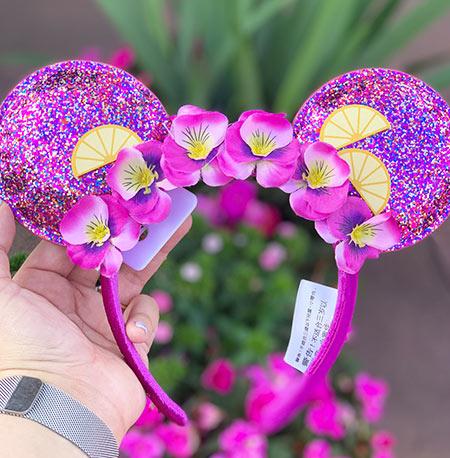 Epcot Flower & Garden Festival Put a Little Zest in Your Fest Violet Lemonade Mouse Ears | Mouse Memos Disney Blog