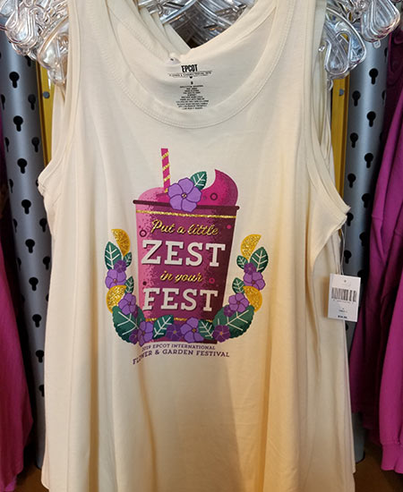 Epcot Flower & Garden Festival Put a Little Zest in Your Fest Tank Top | Mouse Memos Disney Blog