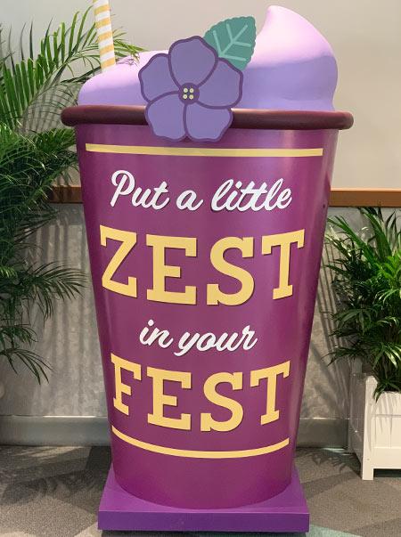 Epcot Flower & Garden Festival Violet Lemonade Photo Op | Mouse Memos Disney Blog
