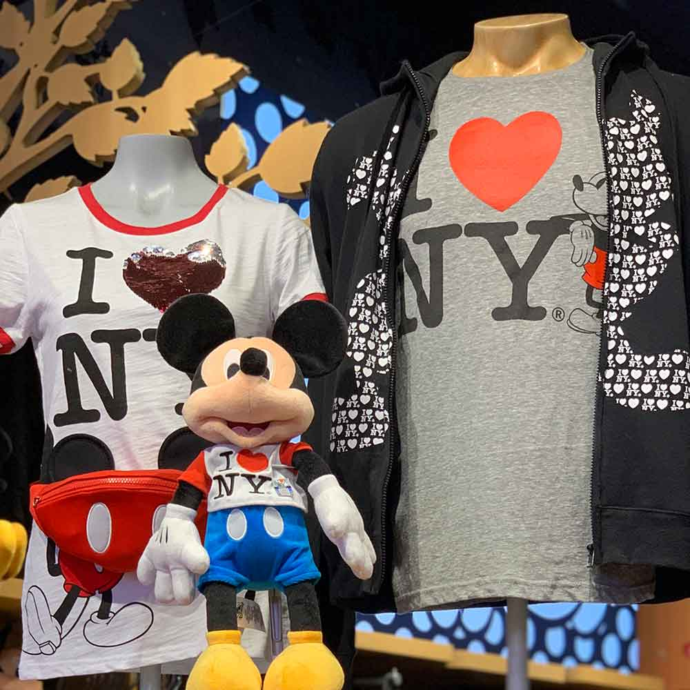 Assorted I Love NY Merchandise Disney Store Times Square | Mouse Memos Disney Blog