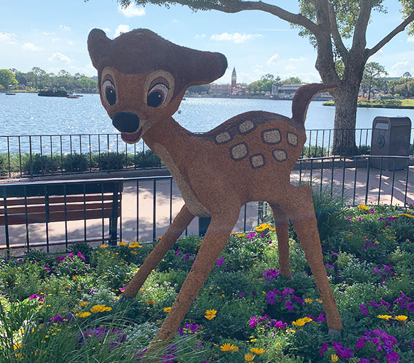 Bambi Topiary 2019 Epcot Flower and Garden Festival Topiaries | Mouse Memos Disney Blog