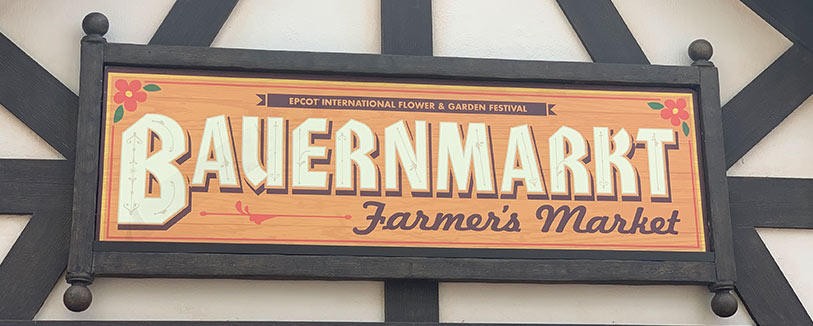 Bauernmarkt Menu 2019 Epcot International Flower and Garden Festival | Mouse Memos Disney Blog