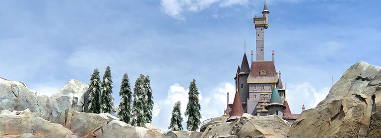 Beast's Castle at Be Our Guest Restaurant Magic Kingdom   Mouse Memos Disney Blog