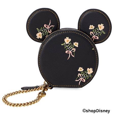 Disney x COACH Minnie Mouse Florals Collection Black Coin Purse | Mouse Memos Disney Blog