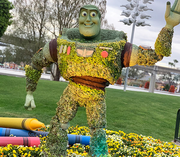 Buzz Lightyear Topiary 2019 Epcot Flower and Garden Festival Topiaries | Mouse Memos Disney Blog