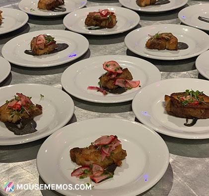Chef Celina Tio's Crispy Pork Belly Sampling at Party for the Senses 2018 Epcot International Food and Wine Festival | Mouse Memos Disney Blog