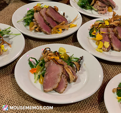 Chef Damon Lauder's Duck Duck Goose Sampling at Party for the Senses 2018 Epcot International Food and Wine Festival | Mouse Memos Disney Blog