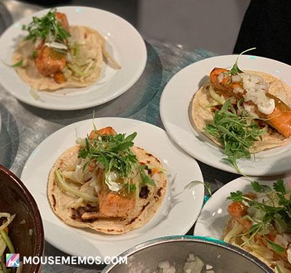 Chef David Ramos' Verlasso® Salmon Taco at Party for the Senses 2018 Epcot International Food and Wine Festival | Mouse Memos Disney Blog