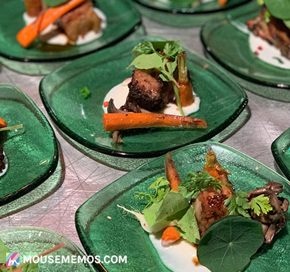 Chef Julia Thrash's Herb Crusted Bison Tenderloin at Party for the Senses 2018 Epcot International Food and Wine Festival | Mouse Memos Disney Blog