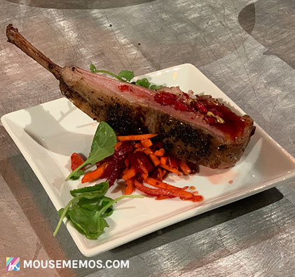 Chef Justin Wangler's Rack of Lamb at Party for the Senses 2018 Epcot International Food and Wine Festival | Mouse Memos Disney Blog