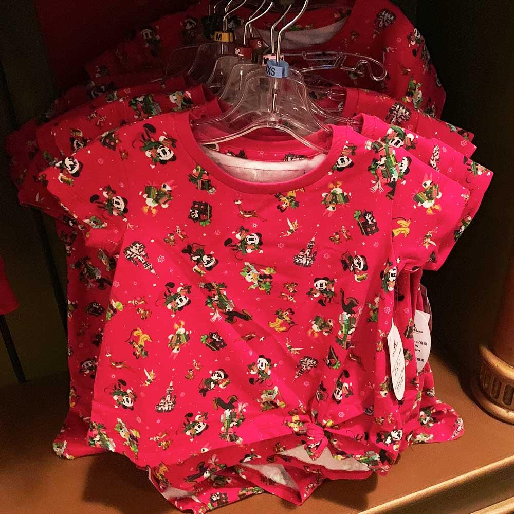 Disney Characters Christmas Shirt with Bottom Knot 2018 Disney Christmas Apparel | Mouse Memos Disney Blog