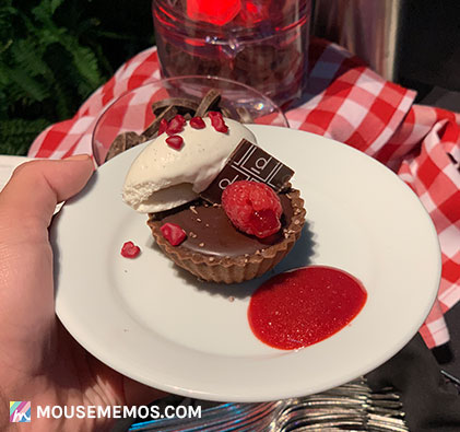 France Pavilion's Chocolate Passion Cake at Party for the Senses Epcot Food and Wine Festival | Mouse Memos Disney Blog