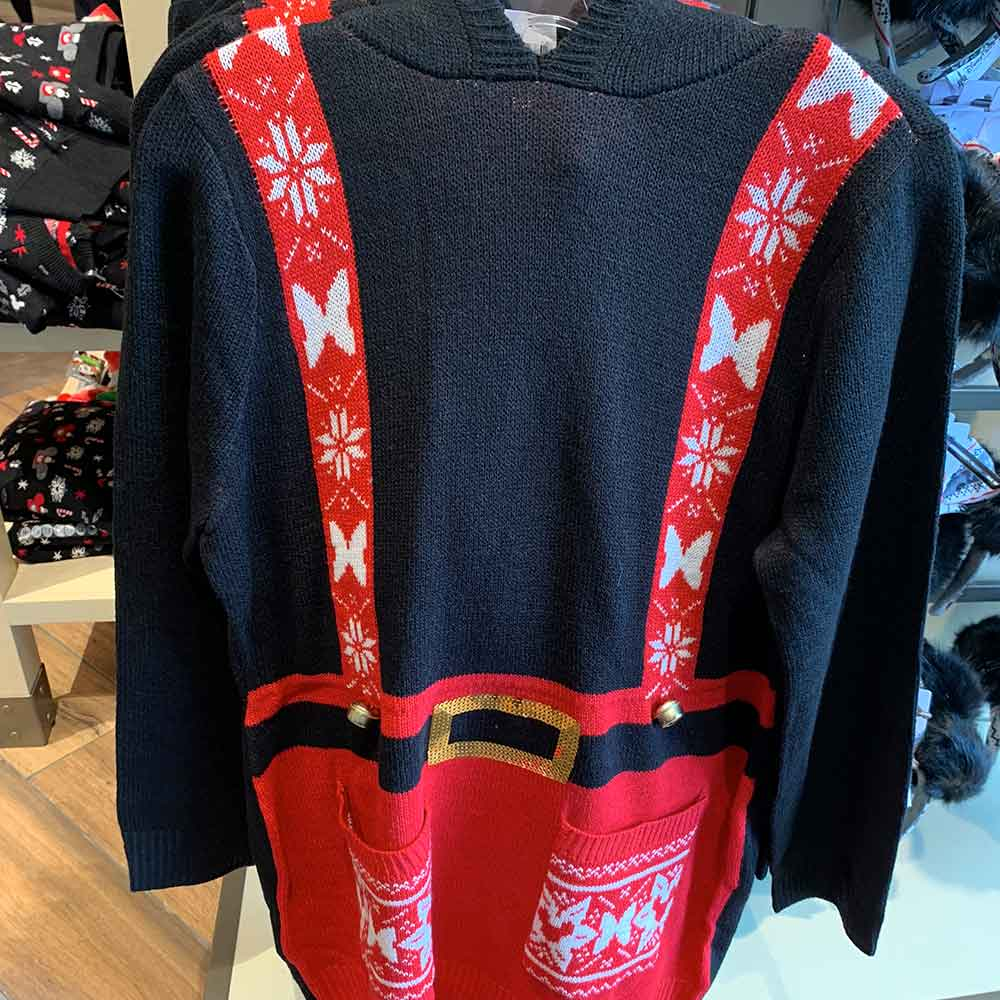 Christmas Overalls Sweater from the 2018 Disney Christmas Apparel Collection | Mouse Memos Disney Blog