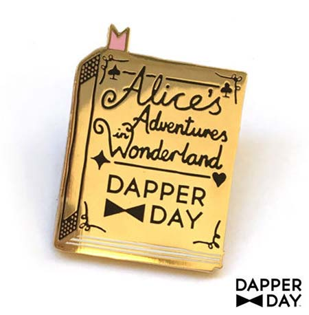 Dapper Day Alice in Wonderland Book Pin | Mouse Memos Disney Blog
