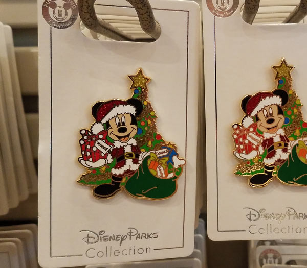Santa Mickey Mouse Icon Pin 2018 Disney Parks Christmas Pins | Mouse Memos Disney Blog