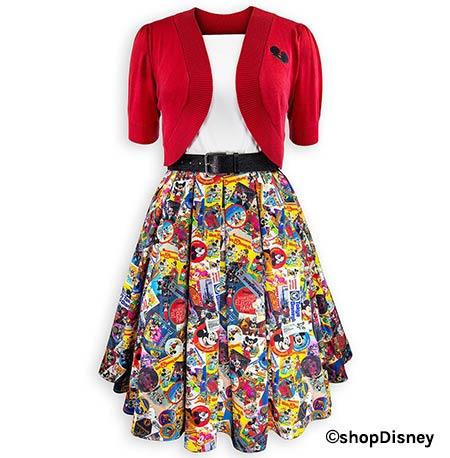 Disney Parks Mickey's Celebration Collection Dress & Cardigan | Mouse Memos Disney Blog