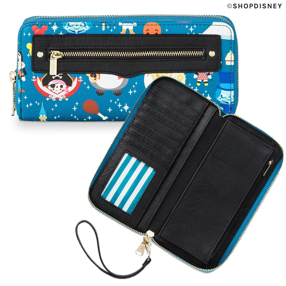 Disney Parks Minis Loungefly Collection: Wristlet Wallet Back and Open | Mouse Memos Disney Blog