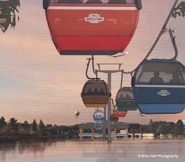 Artist's Rendering of Disney Skyliner at Pop Century Resort | Mouse Memos Disney Blog