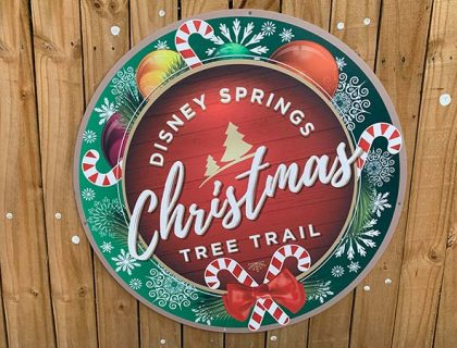 Disney Springs Christmas Tree Trail 2018 Sign | Mouse Memos