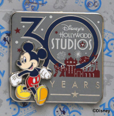30 Years Mickey Mouse Pin - Disney's Hollywood Studios 30th Anniversary Merchandise | Mouse Memos Disney Blog