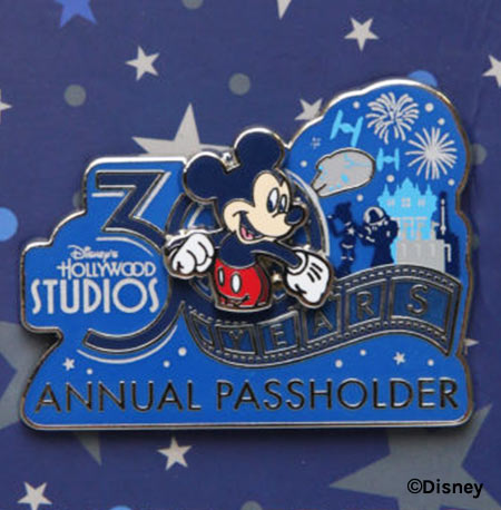 30 Years Annual Passholder Pin - Disney's Hollywood Studios 30th Anniversary Merchandise | Mouse Memos Disney Blog