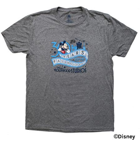 Grey Passholder T-Shirt - Disney's Hollywood Studios 30th Anniversary Merchandise | Mouse Memos Disney Blog