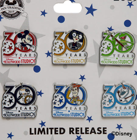 Pin Set - Disney's Hollywood Studios 30th Anniversary Merchandise | Mouse Memos Disney Blog