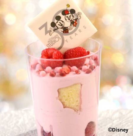 Raspberry Mousse Verrine - Disney's Hollywood Studios 30th Anniversary Treats | Mouse Memos Disney Blog