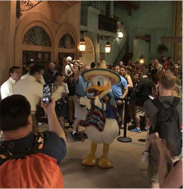 Donald Duck at Plaza de los Amigos   Mouse Memos Disney Blog