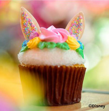 Easter Treats at Walt Disney World Resort: Easter Bunny Cupcake | Mouse Memos Disney Blog