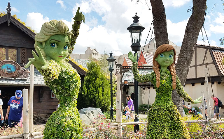Frozen Topiary 2019 Epcot Flower and Garden Festival Topiaries | Mouse Memos Disney Blog