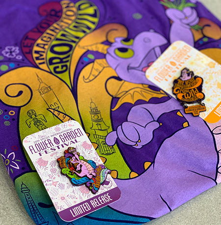Figment Passholder Pins 2019 Flower and Garden Festival | Mouse Memos Disney Blog