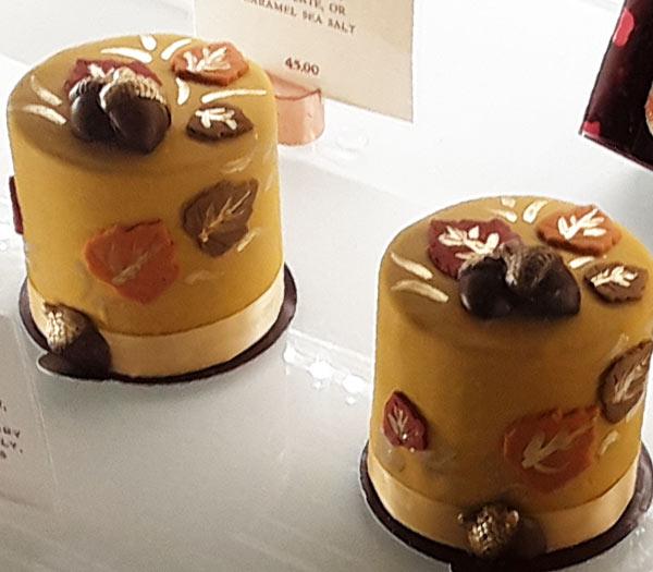 Fall Harvest Petit Cake at Amorette's Patisserie for WonderFall Flavors Disney Springs | Mouse Memos Disney Blog