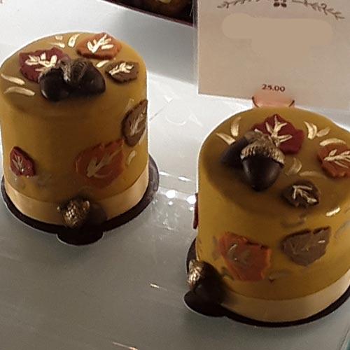 Fall Harvest Petit Cake at Disney Springs WonderFall Flavors   Mouse Memos Disney Blog