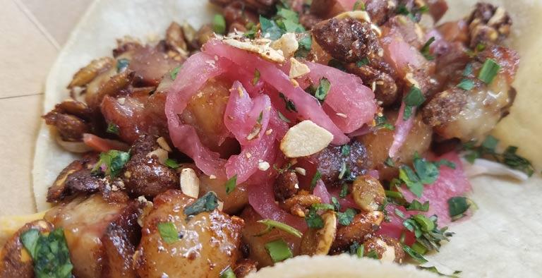 Fall Harvest Taco at the Polite Pig for WonderFall Flavors Disney Springs | Mouse Memos Disney Blog