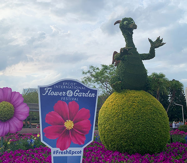 Figment Topiary 2019 Epcot Flower and Garden Festival Topiaries | Mouse Memos Disney Blog
