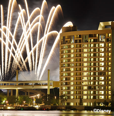Fireworks at Disney's Contemporary Resort | Mouse Memos Disney Blog