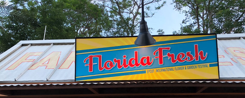 Florida Fresh Menu 2019 Epcot International Flower and Garden Festival | Mouse Memos Disney Blog