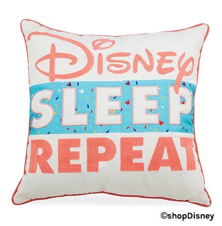 Forever Disney 'Disney Sleep Repeat' Pillow | Mouse Memos Disney Blog