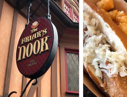 New Vegan Brat at Friar's Nook Magic Kingdom   Mouse Memos Disney Blog
