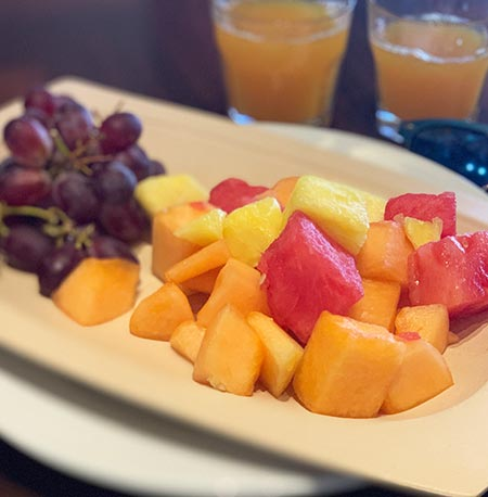 Fruit Plate - 'Ohana Breakfast Disney's Polynesian Village Resort | Mouse Memos Disney Blog