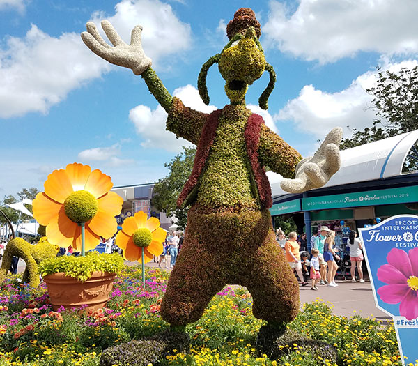 Goofy Topiary 2019 Epcot Flower and Garden Festival Topiaries | Mouse Memos Disney Blog