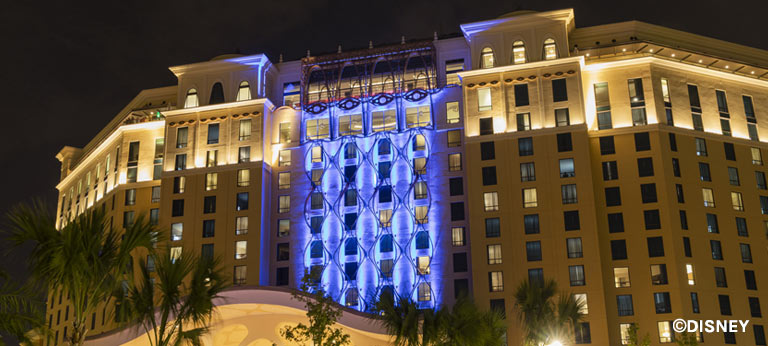 Gran Destino Tower at Night | Mouse Memos Disney Blog