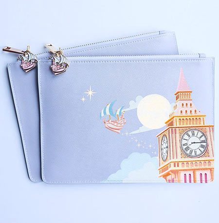 Grape Soda Club Off to Neverland Leather Pouch   Mouse Memos Disney Blog