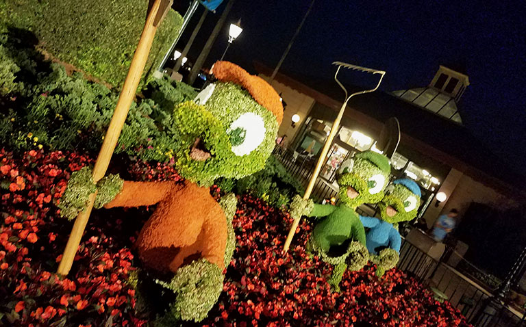 Huey, Duey, Louie Topiary 2019 Epcot Flower and Garden Festival Topiaries | Mouse Memos Disney Blog