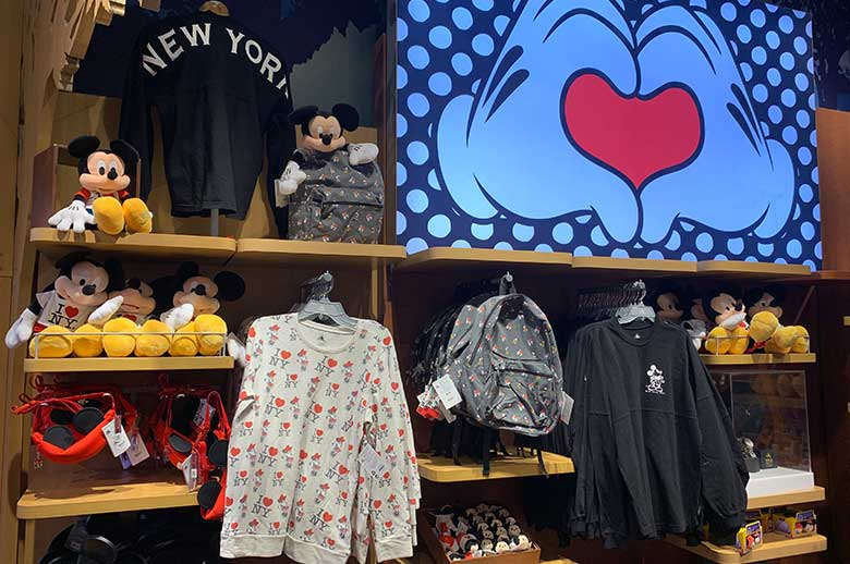 I Love NY Merchandise Collection Disney Store Times Square | Mouse Memos Disney Blog