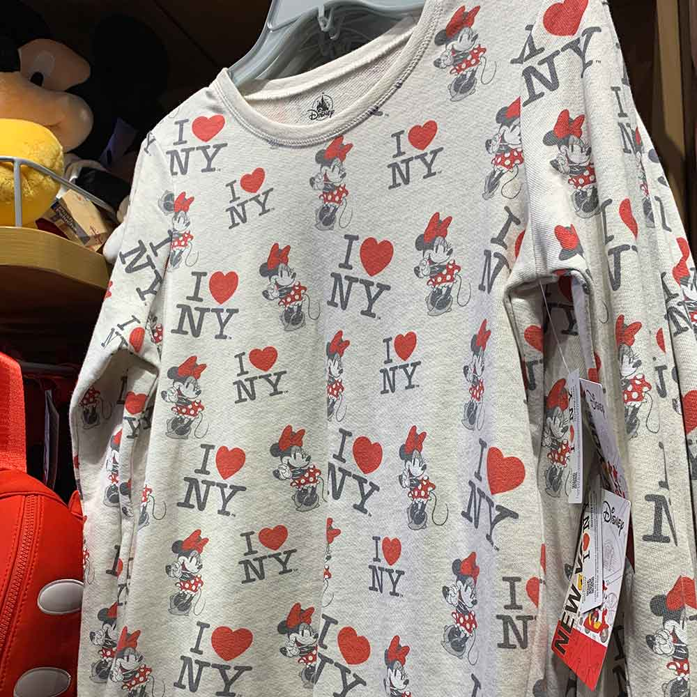 I Love NY Minnie Mouse Lightweight Sweatshirt | Mouse Memos Disney Blog