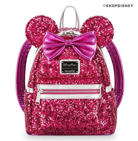 Imagination Pink Sequin Loungefly Mini Backpack | Mouse Memos Disney Blog